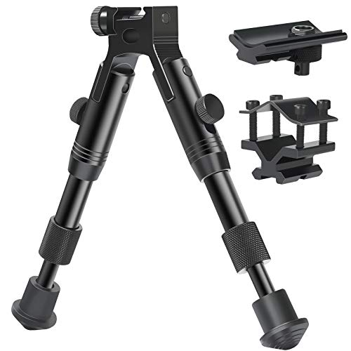 Feyachi 3 in 1 Tactical Riflebipod + Rail Mount Adapter + Barrel Clamp Adjustable Height from 6.5″ to 7.0″ for Hunting