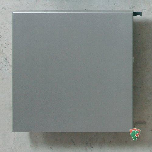 Serafini Briefkasten Square graualuminium quadratisch 36 x 36 x 10 cm Postkasten Wandkasten