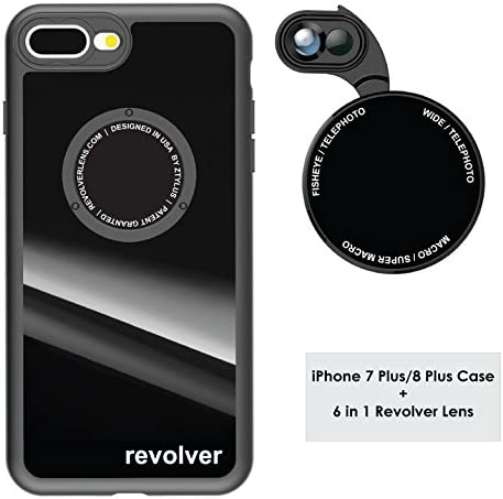 Ztylus Gloss Black Revolver M Series Camera Kit 6 in 1 Lens with Case for iPhone 7 Plus 8 Plus product image