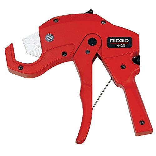 RIDGID 20191 Modell 1442N Schnelleinstellbare Kunststoffrohrschere mit ergonomisch geformten Griffen, Kunststoffrohrabschneider von 3 mm bis 42 mm