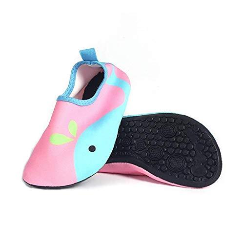 NaisiCore Zapatos de Agua Unisex del niño de los niños de Secado rápido Antideslizantes del Aqua Calcetines para Actividades al Aire Libre Deportes de la Playa - Rosa Talla S Beach Suministros