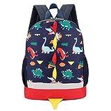 Sac à Dos Enfant Dinosaure Maternelle Bébé Sac Scolaire Sac d'école pour Maternelle Garderie PréScolaire Cartable (Bleu Foncé)