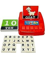 Scucs Kinderen educatief speelgoed bijpassende brief spel alfabet en wiskunde puzzel spel bordspel voor leren tellen nummers spelling