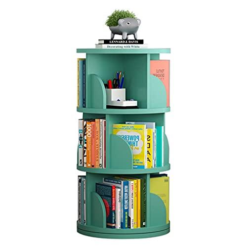 Librerie Girevole a 360 Grande per Bambini, Regolabile in Altezza, stimolare l'interesse dei Bambini nella Lettura (Color : Green, Size : 3 Layers (46 * 95cm))