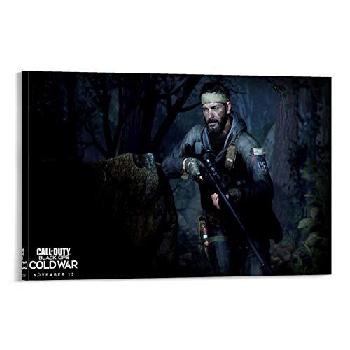 XIAOTT Póster de videojuegos de Call of Duty Black Ops 8 sobre lienzo y arte de pared, impresión moderna, para decoración de dormitorio familiar, 60 x 90 cm