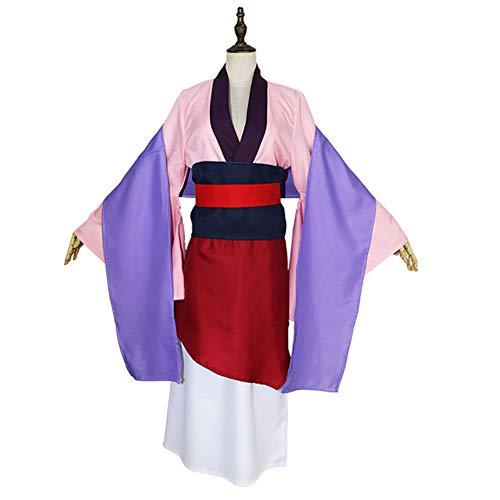 WOGQX Heroína China Hua Mulan Vestido Hanfu Vestido De Baile Traje De Traje, Vestido De Disfraz De Halloween Cosplay,Rosado,M