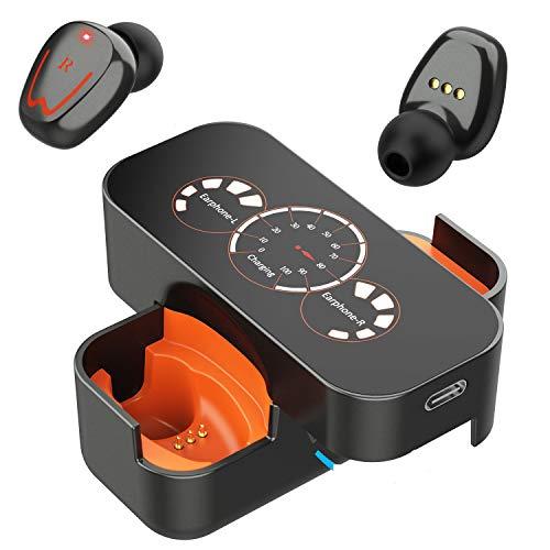 Cuffie Bluetooth Senza Fili, Auricolari Wireless True con Microfono, Stereo HD, Cancellazione del Rumore, Compatibile con Xiaomi Huawei Sony-Gray