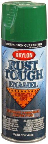 Krylon K09215007 'Rust Tough' Forest Green Rust Preventive Enamel - 12 oz. Aerosol