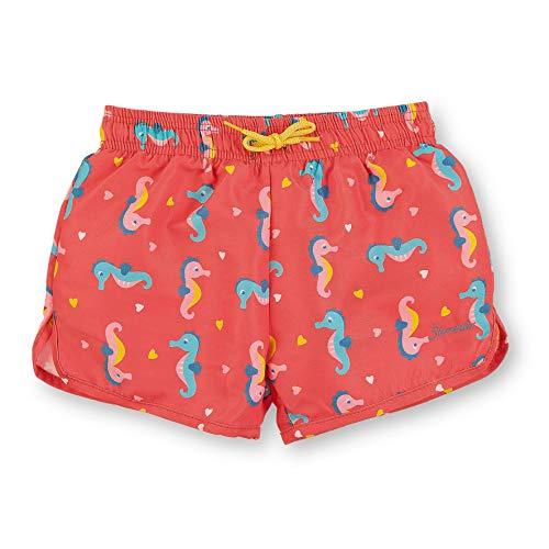 Sterntaler Kinder Mädchen Badeshort mit Windeleinsatz, UV-Schutz 50+, Alter: 18-24 Monate, Größe: 92, Korallrot