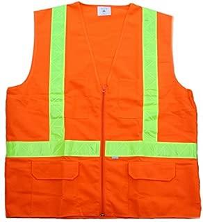 Carolina Glove & Safety 40006 Fluorescent Orange Safety Vest, Class 2, Medium, Fluorescent Orange