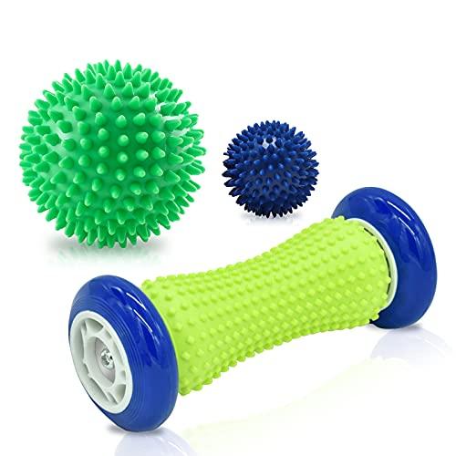 SUNJIOR Rullo per Massaggio ai Piedi,palla massaggiante per alleviare lo stress, Massaggio per Piedi...