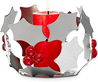 Partylite Christmas - Holiday Modern Holly Candle Holder Decoration