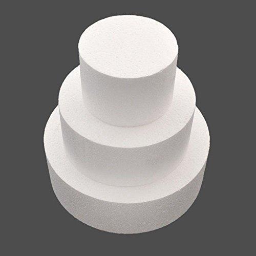 SODIAL Modele Rond de Gateau 4 Pouces/6 Pouces/8 Pouces (Lot de modele de Gateau DE 4 Pouces DE 6 Pouces DE 8 Pouces)