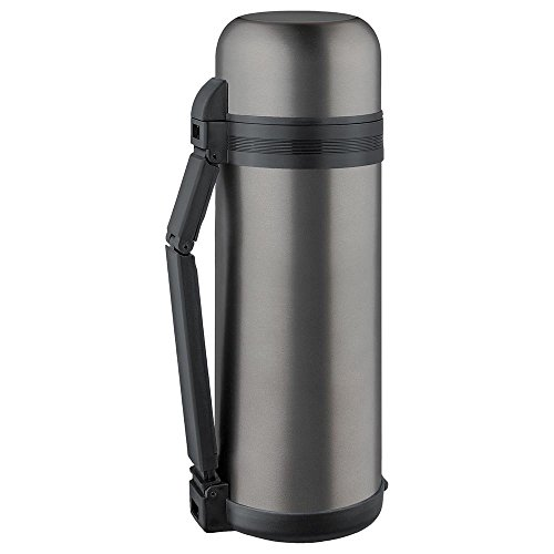 ISOSTEEL Isolierflasche Weithals 1,8 Liter, Titan-Grau