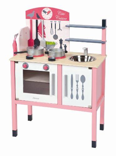 Janod 4506533 - Maxi Küche (mit Accessoires), rosa