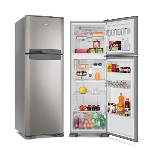 Refrigerador Continental Duplex Frost Free 370L Prata 220V TC41S