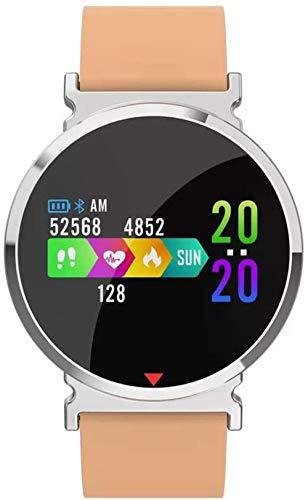 GSWF_OOEFC Reloj Inteligente IP67 Actividad Impermeable Pulsera Deportiva Rastreador de Ejercicios Monitor de oxígeno en Sangre Smartwatch para Android