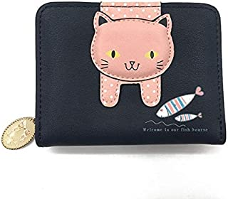 Women Cute cat Wallet Small Zipper Girl Wallet Designed pu Leather Women Coin Purse Female Card Holder Wallet