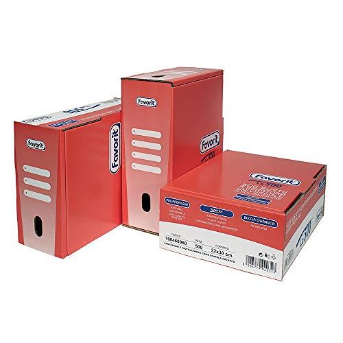 Favorit 100460060 - Buste Foratura Universale Spessore Alto, 22 x 30 cm, Rosso