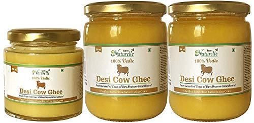 Desi Cow Ghee - 100% Pure From A2 Milk - (2 Bottles - 500 ML + Free 1 Bottle - 200 ML)(Pack of 3)