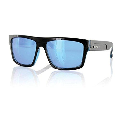Carve Volley Gafas de Sol, Hombre, Black/Clear Blue, 68