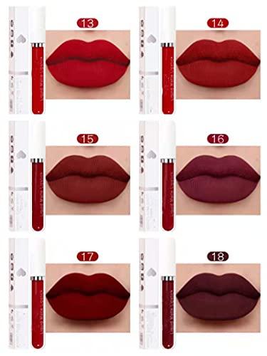 Lipstick Matte vloeibare lippenstift Make-up Waterproof Langdurige cosmetica Make-up, mat Antiaanbaklaag Waterdichte lippenstift Langdurige lipgloss, vrouwen Lip voller (A)