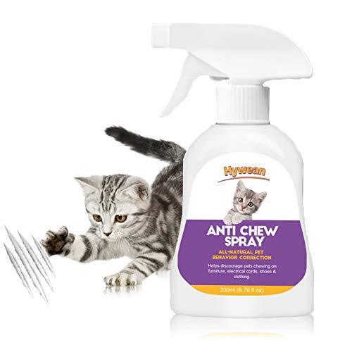 Hywean Spray para Perros Y Gatos para Evitar Masticar Cats Spray Anti Arañazos Protege Los Muebles, Spray Antimordeduras 200 Ml ⭐