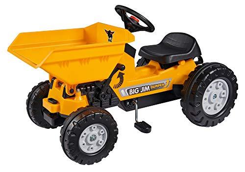 BIG - Jim Dumper Kinderkipper Spielfahrzeug, 3-fach verstellbarer Sitz, wetterbeständiges Kunststoffmaterial, Speichenlenkrad mit verstellbarer Hupe, für Kinder ab 3 Jahren