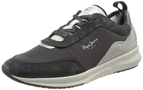 Pepe Jeans London Herren N22 Summer Sneaker, Schwarz (Antracite 982), 45 EU
