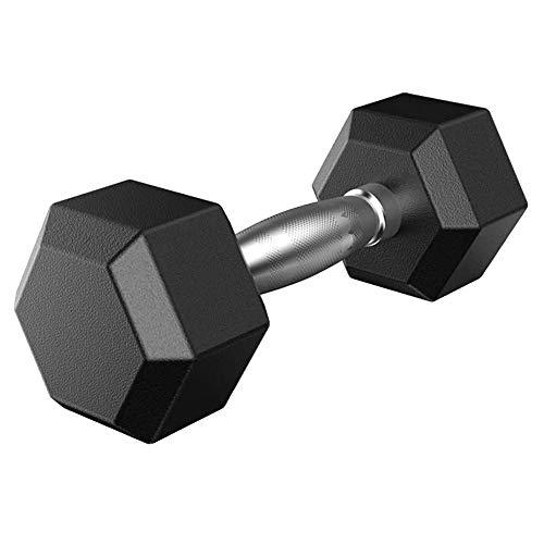 N/A RPGGA Mancuerna 2.5-12.5kg, con Barra Hexagonal de Goma mancuerna con Asas de Metal de Entrenamiento de la Fuerza Masculina y Femenina Equipos de Gimnasia (Size : 2.5KG)