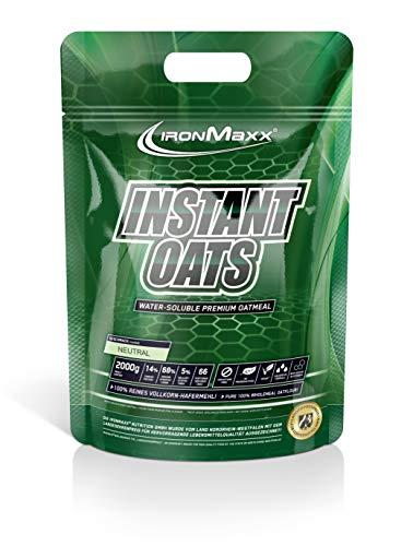IronMaxx Instant Oats Neutral – Kohlenhydratreicher Shake aus 100% reinem Vollkornhafermehl – Für die Definitions- oder Massephase – Low Fat – 1 x 2kg
