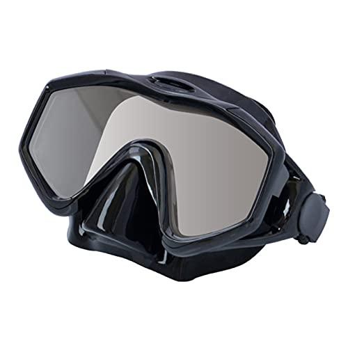 lefeindgdi Máscara sin marco, máscara de buceo sin marco para natación de cristal antivaho con cinturón ajustable, gafas antifugas para adultos