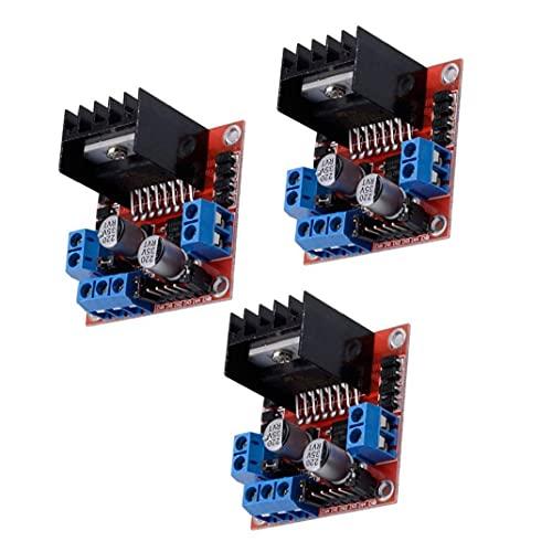 YepYes Controlador de Motor Paso a Paso el Tablero del módulo L298N DC Dual H-Puente Controlador Compatible con Arduino Frambuesa Pi 3PCS