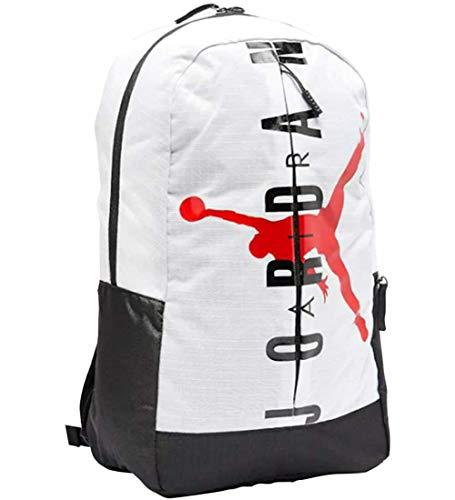 Nike Air Jordan Jumpman Split Pack Backpack Laptop Storage (One Size, White)