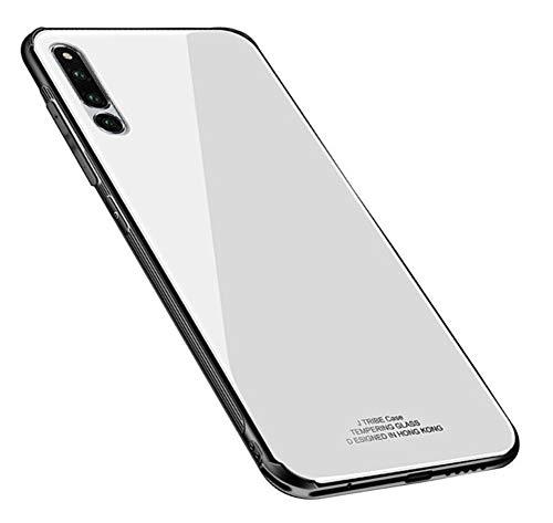 Kepuch Quartz Hülle für Huawei Honor Magic 2 - Weiches TPU + Rückseite Aus Gehärtetem Glas Hüllen Case für Huawei Honor Magic 2 - Weiß