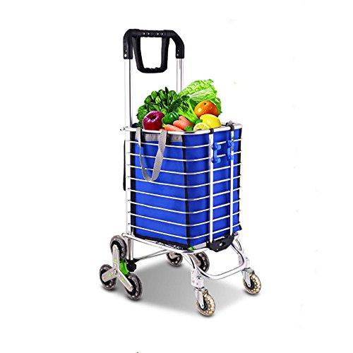 HCC& Chariot Polyvalent Portable Rotation de 360 degrés Pliant Chariot Dolly Roue en cristal Monter les escaliers Shopping et plus