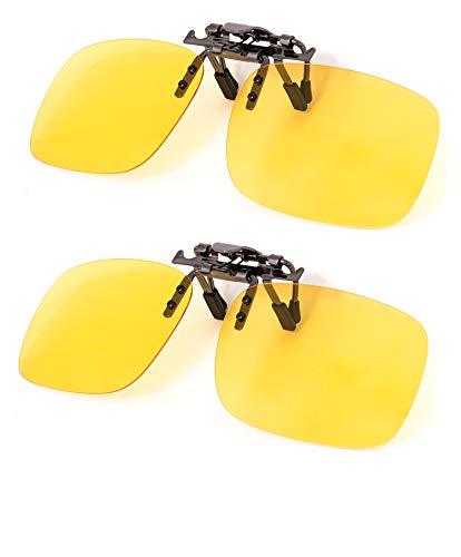 Clip on Polarized Night vision Glasses Flip up Anti reflective Anti Glare UV-400 Wear Over Glasses