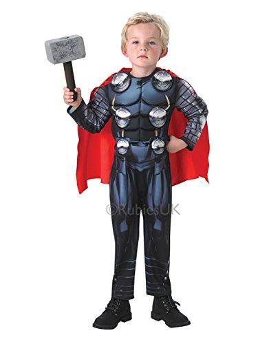 Deluxe Costume pour enfant Motif Avengers Thor Comic Book tenue, grand, Âge 7–8 ans, Hauteur 122 cm 3 \