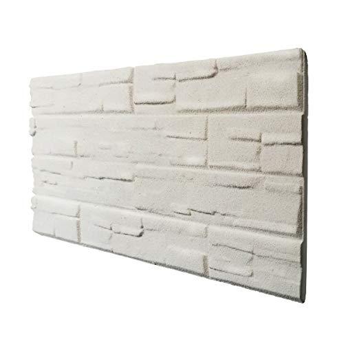 Piedra blanca panel de imitación piedra de poliestireno expandido resinado medida 100 x 50 cm grosor 2 cm