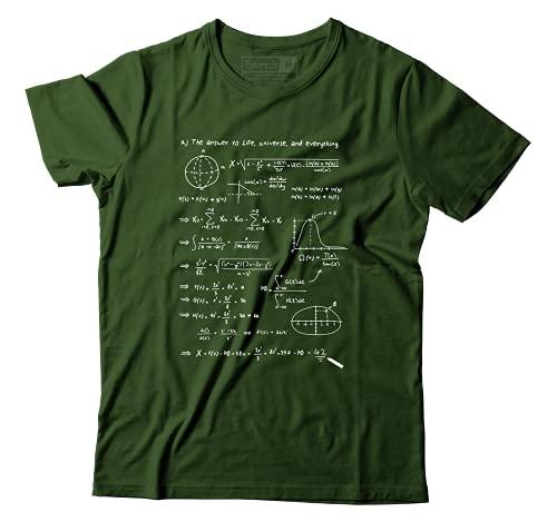 Camiseta Guia Do Mochileiro Das Galaxias Equação Resposta 42 Camisa Unissex (P)