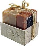 Guru-Shop Seifenset, Geschenkset - Milk & Honey - 3 x Duftseife 100 g, Fair Trade, 8x8x7 cm, Seife