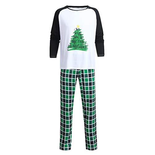LuckyGirls Hombres Daddy Plaid Blusa Pantalones Pijamas Familiares Ropa de Dormir Conjuntos de Navidad a Juego