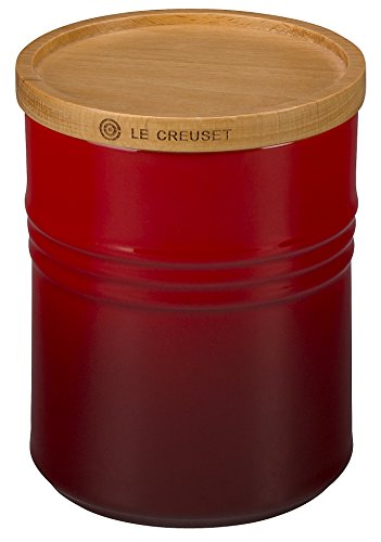 Le Creuset Stoneware Canister with Wood Lid, 2.5 qt. — 20% Off