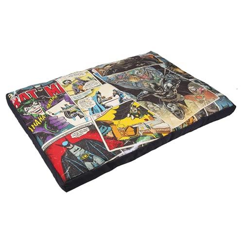 CERDÁ LIFE'S LITTLE MOMENTS - Lit Coussin pour Chien Moyens, de Petite Taille ou Chiots - Dimensions 40 x 65 cm avec Un Design Original - Licence Officielle de Batman DC Comics®