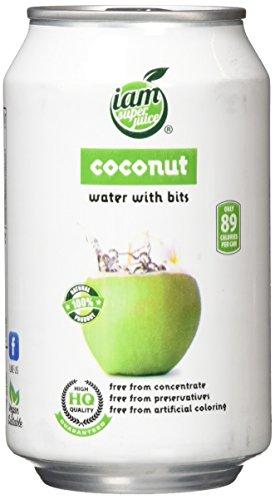 Iam Superjuice Getränke Kokoswasser, 24er Pack (24 x 330 ml)