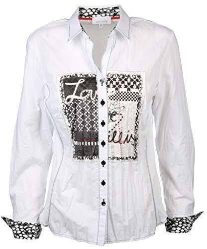 Just White Damen Bluse Größe 46 EU Weiß (weiß)