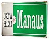 Li6454e Tin Sign Retro Art Metropole Manaus Brazil Poster