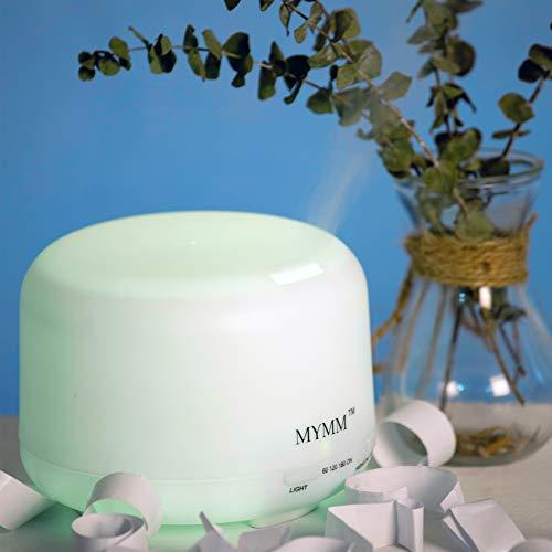 Humidificador,Aceite esencial difusor aromaterapia,Purificador de aire,Luz nocturna, Lámpara LED de 7 colores,Vaporizador ultrasónico para oficina,Dormitorio, Salón de belleza, Café, Casa club