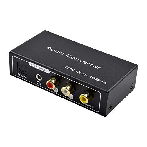 AMANKA HDMI ARC Audio Extractor, Digital HDMI ARC zu SPDIF Koaxial Optical Cinch L/R Stereo Ausgang 3,5mm 192KHz Digital HDMI Audio auf Analog for für Blu-ray DVD PS4 TV