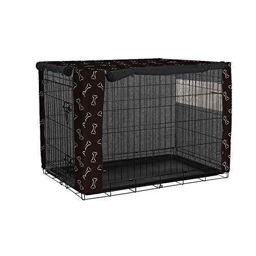 Cubierta duradera para jaulas para perros TUYU con estilo de hueso, cubierta para perreras para mascotas a prueba de viento.